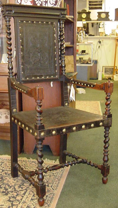 Restore Leather Furniture on Leather Furniture Color Repair On Leather And Wood Chair Antique
