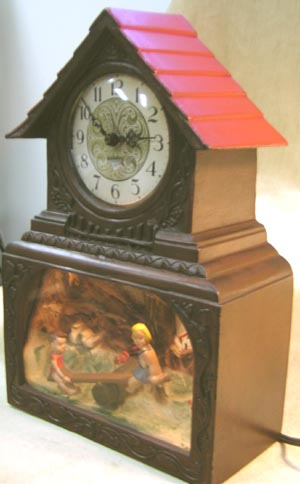 Haddon Motion Animated Teeter Totter Clock Antique