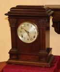 SETH THOMAS MAHOGANY TIME & STRIKE  MANTEL CLOCK