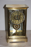 FRENCH RHINESTONE CRYSTAL REGULATOR MANTEL CLOCK