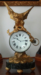 LARGE FRENCH VICTORIAN  GILT EAGLE BALL CLOCK