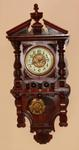 LARGE ANTIQUE GUSTAVE BECKER WALL CLOCK