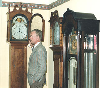 Ted and his clocks.